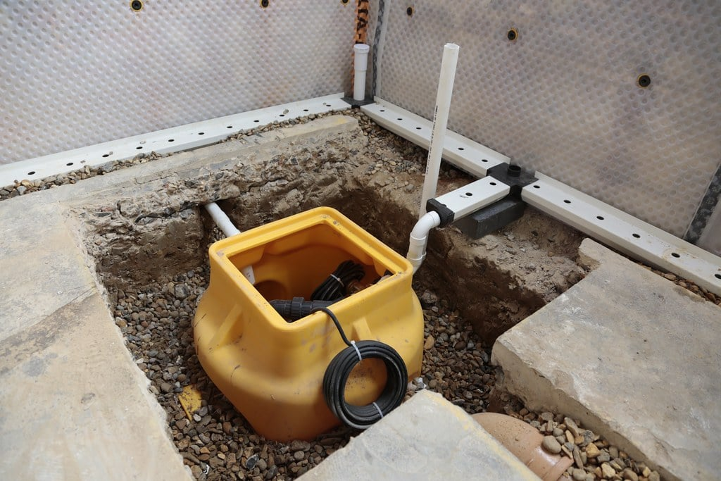 sump pump to help with a flood