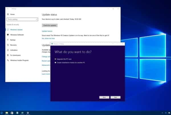 Windows software update screen similar to the SolarWinds hack